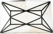Serpui , Panelled Mother Of Pearl Clutch Women Mother Of Pearl One Size, Women's, White
