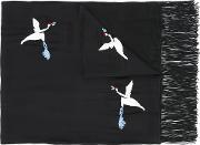 The Kooples , Embroidered Bird Scarf Women Silkcottonviscose One Size