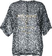 Theatre Products , Sheer Printed Blouse