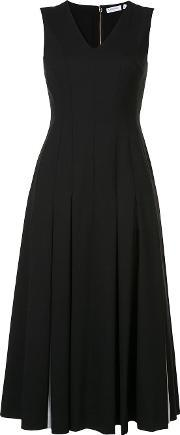 Vionnet , Pleated Midi Dress Women Spandexelastanevirgin Wool 40
