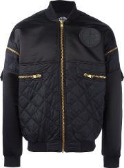 Astrid Andersen , Quilted Bomber Jacket Men Polyamidepolyester L, Blue