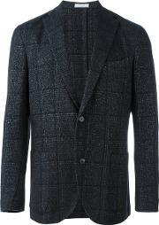 Boglioli , Checked Two Button Blazer Men Linenflaxcuprocashmerewool 54, Blue