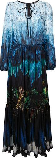 Romance Was Born , Tail Feather Chiffon Gown Women Polyester 12, Women's, Blue