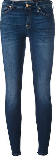 7 For All Mankind , 'the Skinny B Air Duchess' Jeans Women Cottonpolyesterspandexelastanelyocell 30, Women's, Blue
