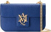 Alexander Mcqueen , Amq Pouch With Strap Women Leather One Size, Women's, Blue