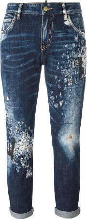 Amen , Distressed Cropped Jeans