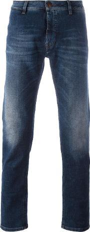 Barba , Regular Jeans Men Cottonspandexelastane 38, Blue