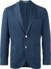 Boglioli , Buttoned Single Breasted Blazer Men Wool 52, Blue