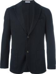 Boglioli , Two Button Blazer Men Cottoncupro 48, Blue