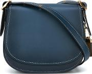 Coach , Stitching Detail Saddle Bag Women Leather One Size