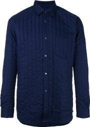 Comme Des Garcons Shirt , Quilted Shirt Men Cottonpolyester S