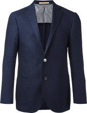 Corneliani , Two Button Blazer Men Linenflaxcuproviscosevirgin Wool 50