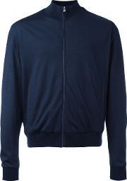 Corneliani , Zipped Lightweight Jacket Men Polyamidevirgin Wool 54, Blue