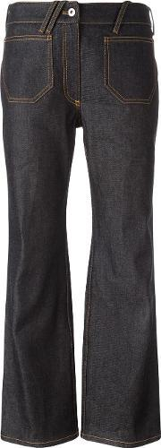 Courreges , Flared Cropped Jeans Women Cotton 36