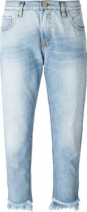 Dont Cry , Don't Cry Destroyed Effect Cropped Jeans