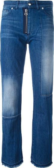 Each X Other , Other Patchwork Straight Leg Jeans Women Cotton 26, Women's, Blue