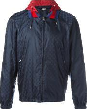 Gucci , Gg Supreme Jacquard Windbreaker Men Polyimide 44, Blue