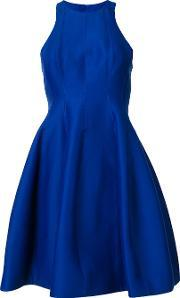 Halston Heritage , Flared Dress Women Silkcottonpolyester 10, Women's, Blue