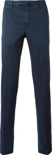 Incotex , Classic Chino Trousers Men Cotton 54, Blue