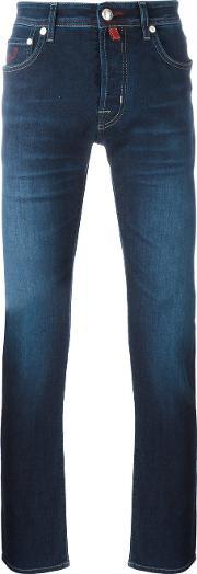 Jacob Cohen , Stretched Skinny Jeans Men Cottonpolyesterspandexelastane 35, Blue