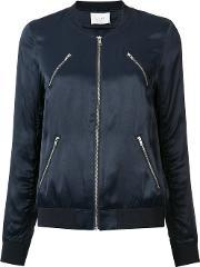 Just Female , Multi Pockets Bomber Jacket Women Polyesterviscose M, Women's, Blue