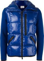 Moncler Grenoble , Padded Body Jacket Men Feather Downpolyamidevirgin Wool S, Blue