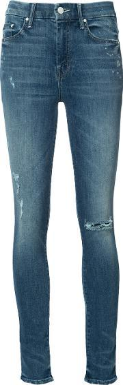Mother , High Rise Skinny Jeans Women Cottonpolyesterspandexelastane 27