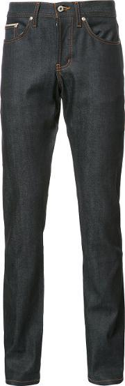 Naked And Famous , Slim Fit Jeans Men Cottonspandexelastane 34, Blue