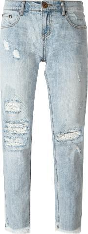 One Teaspoon , Cropped Distressed Jeans
