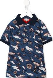 Paul Smith Junior , Multi Print Polo Shirt