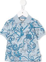Paul Smith Junior , Snake Print Polo Shirt