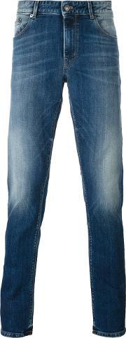 Pt05 , Stone Washed Slim Jeans