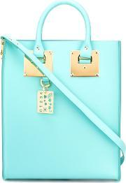 Sophie Hulme , Rectangular Double Handles Tote Women Calf Leather One Size, Women's, Blue