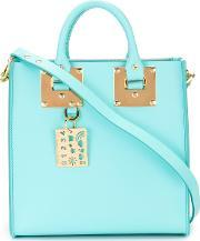 Sophie Hulme , Square Albion Tote Women Leather One Size, Women's, Blue