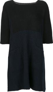 The Elder Statesman , 'guatemala' Dress Women Cashmere One Size, Women's, Blue