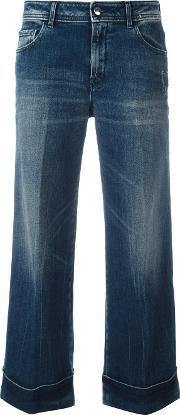 The Seafarer , Cropped Flared Jeans Women Cottonpolyurethane 26, Women's, Blue