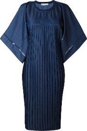 Veronique Branquinho , Oversized Pleated Dress Women Cottonpolyester 40, Women's, Blue