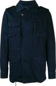Yves Salomon Homme , Denim Military Jacket
