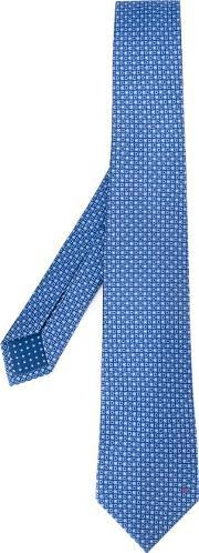 Bulgari , Micro Print Tie Men Silk One Size