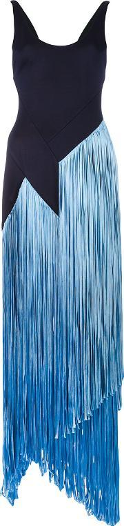 Galvan , Carmen Fringe Dress Women Polyamidespandexelastaneviscose 36, Women's, Blue