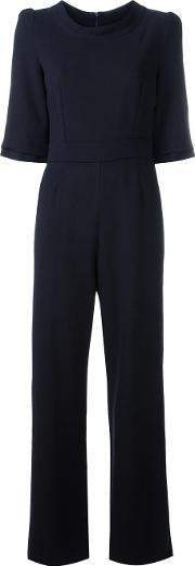 Goat , Delauney Jumpsuit Women Polyesteracetatewool 14, Women's, Blue
