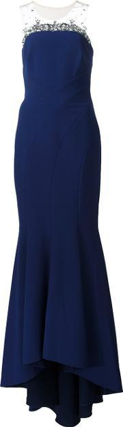 Marchesa Notte , Embellished Detail Gown Women Polyester 8, Women's, Blue