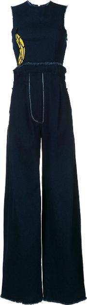 Natasha Zinko , Denim Wide Leg Jumpsuit Women Cotton 40