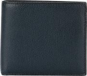 Valextra , Foldover Wallet Men Calf Leather One Size, Blue