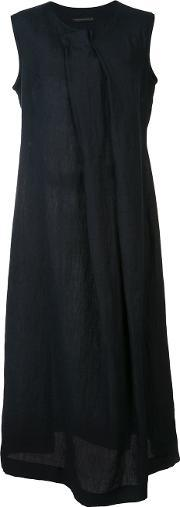 Ys , Y's Pleated Front Dress Women Linenflax 1, Women's, Blue