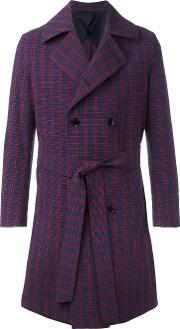 Mp Massimo Piombo , Belted Trench Coat Men Cottonelastodieneviscose 52, Blue