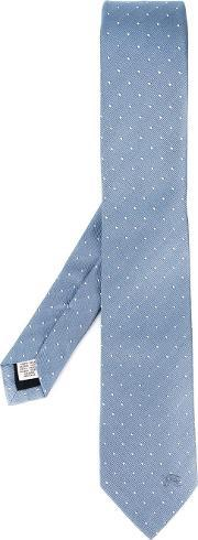 Burberry London , Dotted Tie Men Silk One Size, Blue