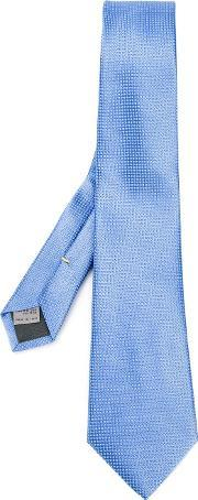 Canali , Woven Pattern Tie Men Silk One Size, Blue