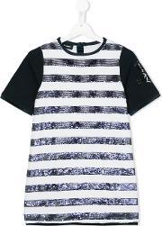 Diesel Kids , Striped Sequined Dress Kids Cottonpolyesterspandexelastane 8 Yrs