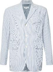 Engineered Garments , Seersucker Stripe Blazer Men Cottonpolyester M, Blue